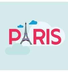 Paris card - with eiffel tower vector