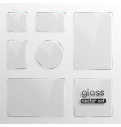 Glass plates set vector