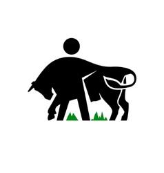 Livestock sign vector