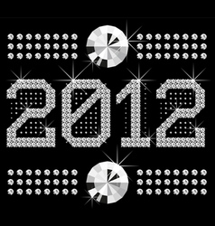 Diamond numbers 2012 means happy new year vector