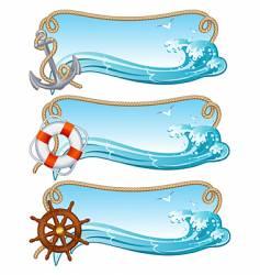 Sailing banner vector