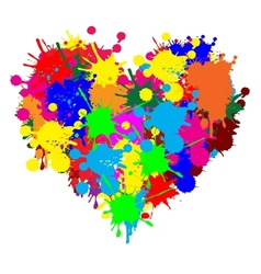 Paint splatter heart vector