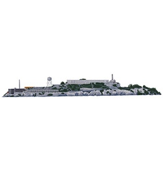 The alcatraz island vector