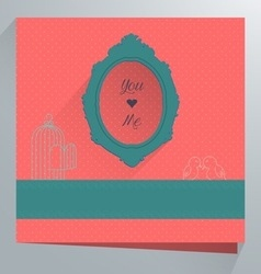 Weeding cards vector