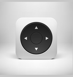 White abstract joystick app icon button template vector