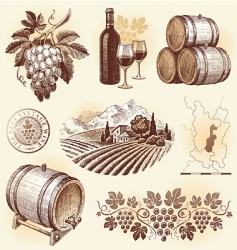 Winemaking vector
