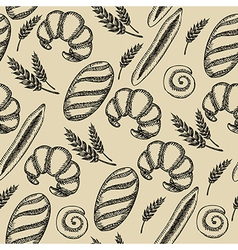 Seamless bakery pattern retro design vector