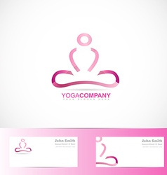 Yoga meditation 3d logo vector
