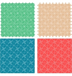 Seamless abstract pattern set fabric furniture vector