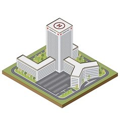 Isometric hospital building vector