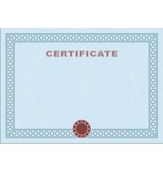 Blue blank certificate vector