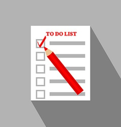 To do list flat icon design vector