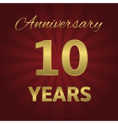 10 years anniversary vector