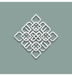 3d pattern in arabic style vector