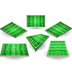 Set of soccer fields in six positions vector