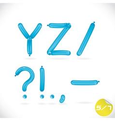 Unique glossy balloon alphabet vector