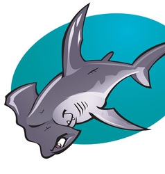 Cartoon hammerhead shark vector