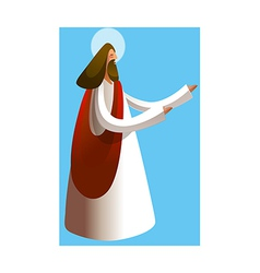 Side view of jesus christ praying vector