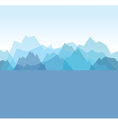 Mountains blue vector
