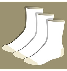 Socks template vector
