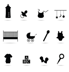 Baby icon silhouette vector