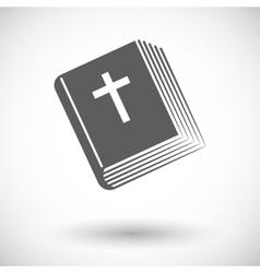 Bible single icon vector