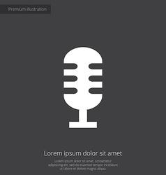 Microphone premium icon vector