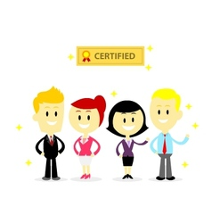 Certified professional employees vector