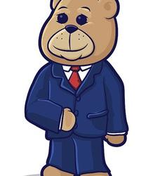 Business bear vector