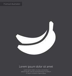 Banana premium icon white on dark background vector