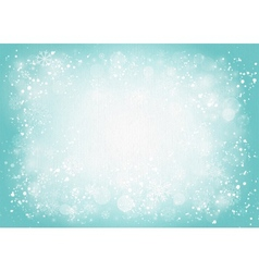 Turquoise canvas background with snowflakes vector