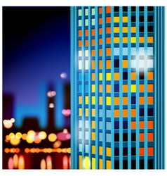 Skyscrapers at night vector