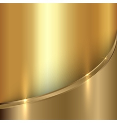 Abstract precious metal background with curve vector