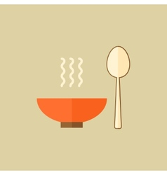 Kitchenware food flat icon vector