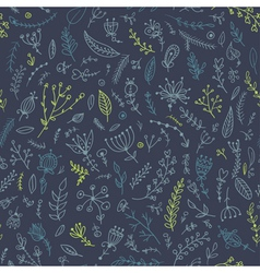 Herb seamless pattern vector