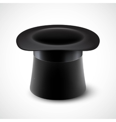 Black top hat isolated on vector