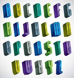 3d colorful letters alphabet vector