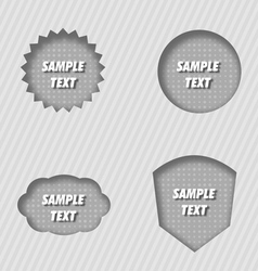 Pressed labels vector