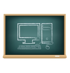 Board desktop computer vector