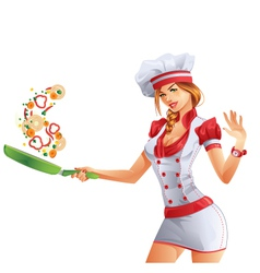 Cute cook vector