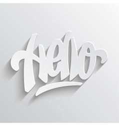 Hello hand lettering vector