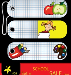 Price tags school vector