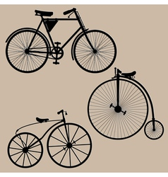 Vintage bicycles vector