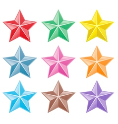 Collection of colorful stars vector