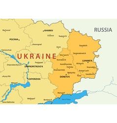 Donetsk and lugansk regions of ukraine - map vector