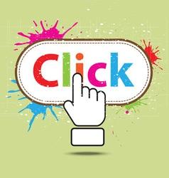 Hand icon click design vector