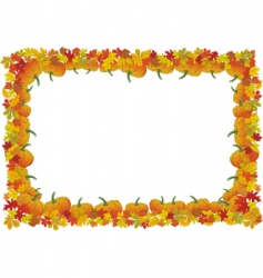 Thanksgiving day autumnal frame vector