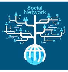 Social network globe worldwide vector