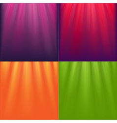 Lights backgrounds set vector