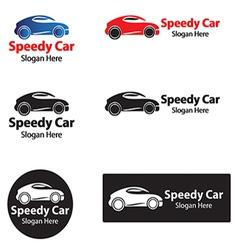 Speedy car vector